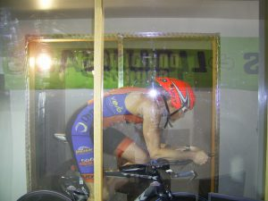 Aero position with Rudy Helmet at Wind tunnel on 1-27-2014
