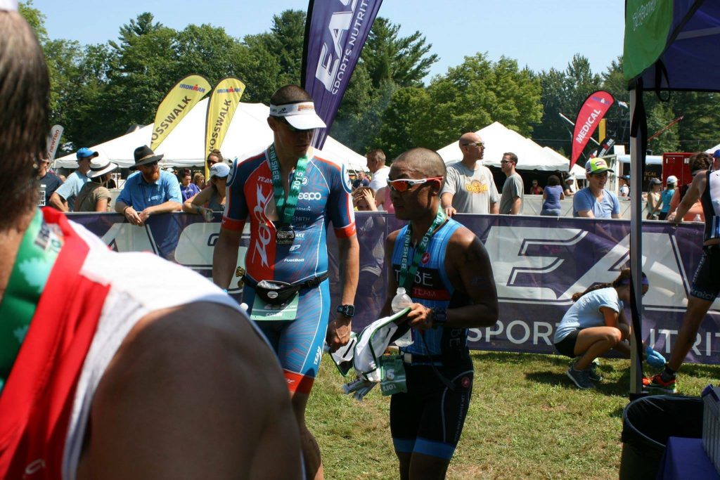 Elliot and I at finish